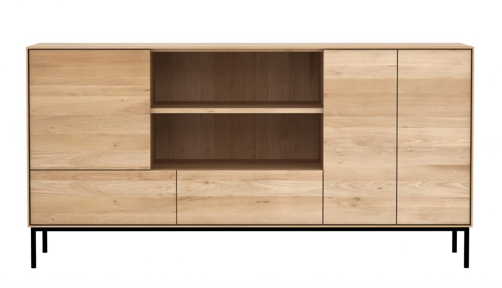 Six Sense Ieper Ethnicraft Oak Whitebird sideboard - 3 doors 2 drawers 180 x45x90